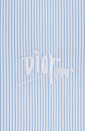 Мужская хлопковая сорочка DIOR голубого цвета, арт. 013C501N4954C080 | Фото 2