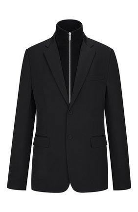 Мужской шерстяной пиджак DIOR черного цвета, арт. 033C212A4739C900 | Фото 1