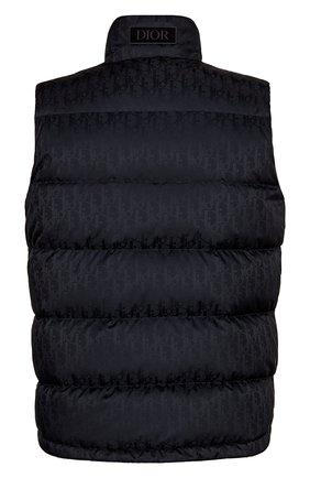 Мужской пуховый жилет DIOR темно-синего цвета, арт. 033C410A4462C565 | Фото 2