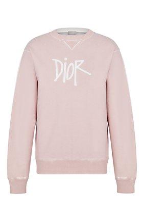 Мужской хлопковый свитшот DIOR розового цвета, арт. 033J604B0531C400 | Фото 1