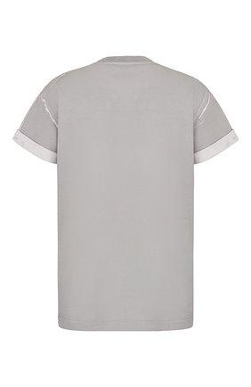 Мужская хлопковая футболка DIOR серого цвета, арт. 033J625E0554C800 | Фото 2