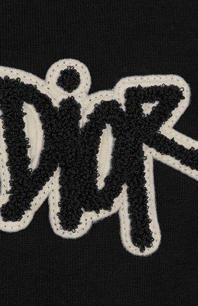 Мужская хлопковая футболка DIOR черного цвета, арт. 033J625I0554C980 | Фото 2