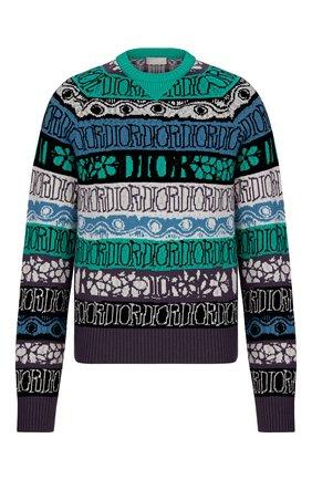 Мужской шерстяной свитер DIOR разноцветного цвета, арт. 033M622AT167C683 | Фото 1