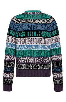 Мужской шерстяной свитер DIOR разноцветного цвета, арт. 033M622AT167C683 | Фото 2