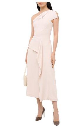 Женское платье ROLAND MOURET светло-бежевого цвета, арт. PW20/S0951/F2241   Фото 2