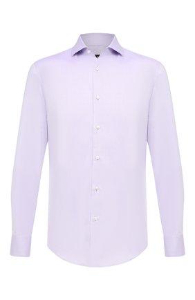 Мужская хлопковая сорочка BOSS сиреневого цвета, арт. 50413744 | Фото 1