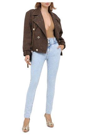 Женские джинсы ALESSANDRA RICH голубого цвета, арт. FAB2257-F3041   Фото 2