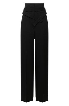 Женские шерстяные брюки JIL SANDER черного цвета, арт. JSPR300400-WR202100   Фото 1