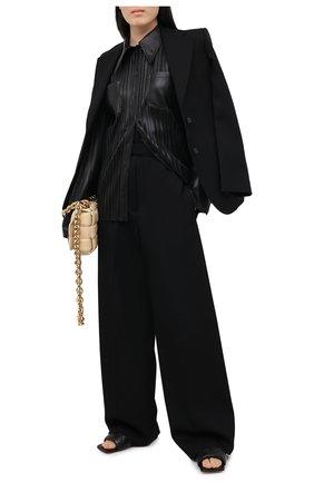 Женские шерстяные брюки JIL SANDER черного цвета, арт. JSPR300400-WR202100   Фото 2