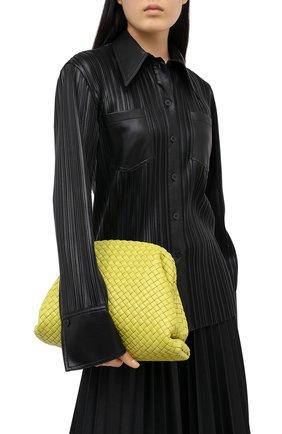 Женский клатч pouch BOTTEGA VENETA светло-зеленого цвета, арт. 639296/V01D0 | Фото 2