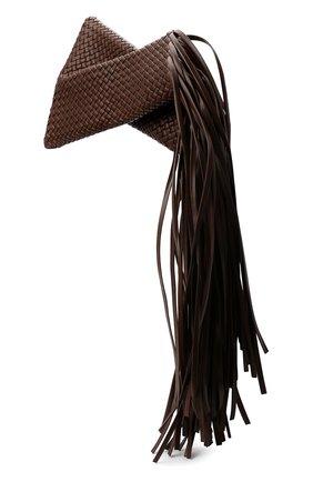 Женский клатч bv fringe crisscross BOTTEGA VENETA коричневого цвета, арт. 642104/V01D1   Фото 3