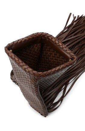 Женский клатч bv fringe crisscross BOTTEGA VENETA коричневого цвета, арт. 642104/V01D1   Фото 4