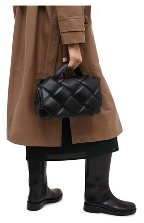 Женская сумка bv handle BOTTEGA VENETA черного цвета, арт. 641236/VCQR1 | Фото 2