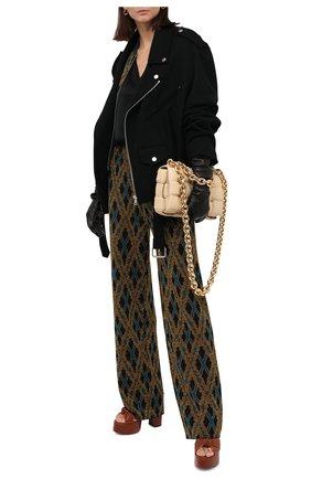 Женские брюки DRIES VAN NOTEN черного цвета, арт. 202-11212-1715   Фото 2
