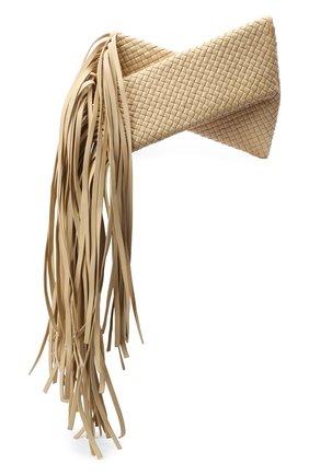 Женский клатч bv fringe crisscross BOTTEGA VENETA светло-бежевого цвета, арт. 642104/V01D1 | Фото 1
