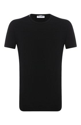 Мужские хлопковая футболка DOLCE & GABBANA черного цвета, арт. M8E26J/FUGHH   Фото 1