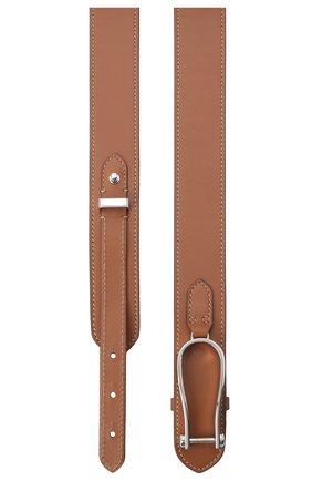 Женский кожаный ремень RALPH LAUREN коричневого цвета, арт. 408814905 | Фото 2 (Материал: Кожа)