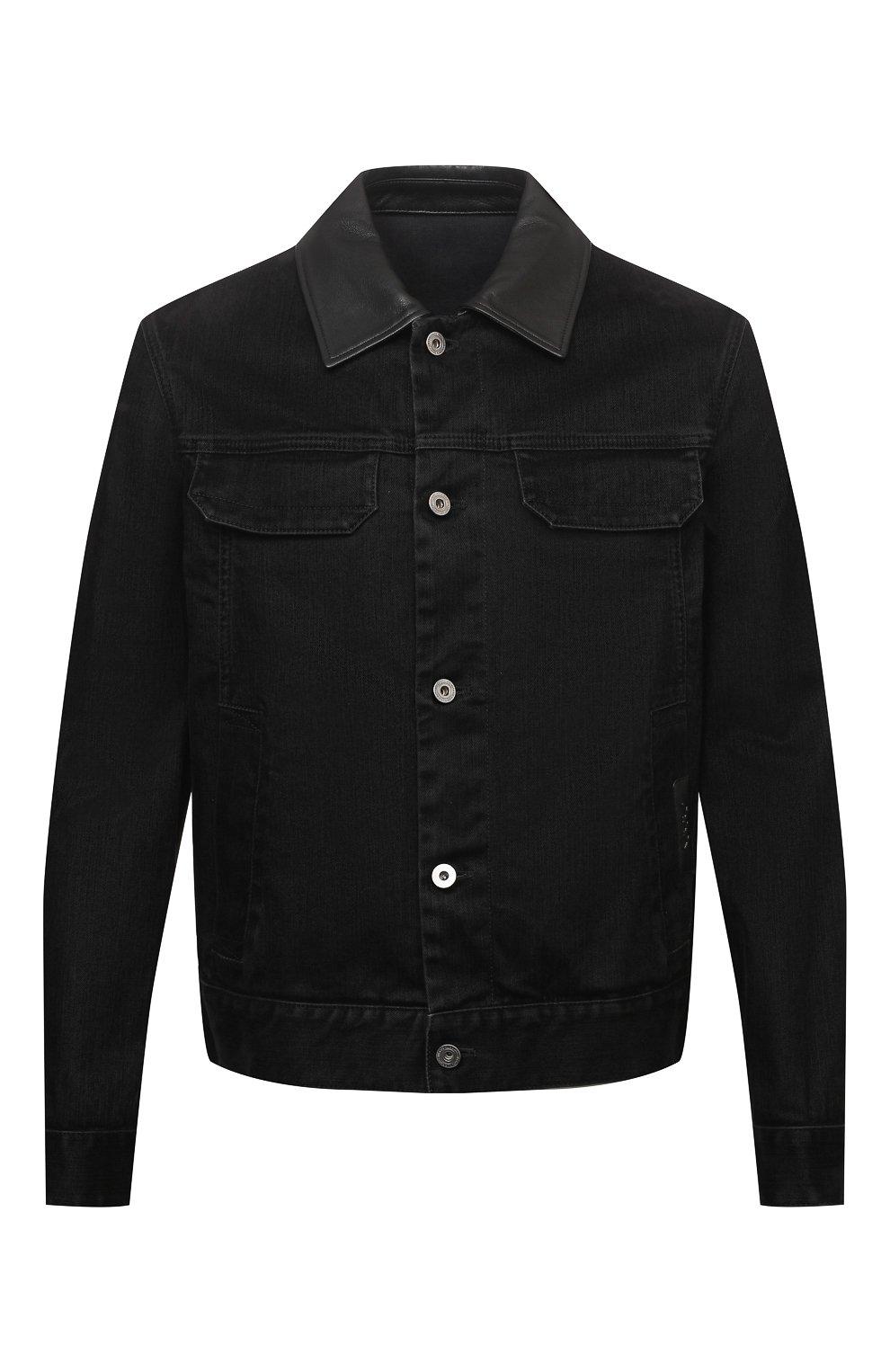 Мужская джинсовая куртка ZEGNA COUTURE черного цвета, арт. CVCD14/8VD60   Фото 1