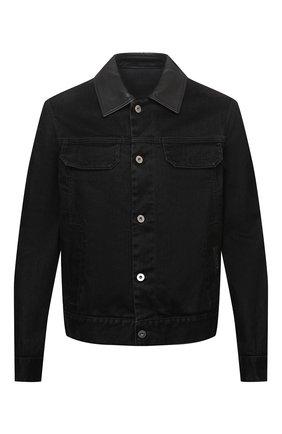 Мужская джинсовая куртка ZEGNA COUTURE черного цвета, арт. CVCD14/8VD60 | Фото 1