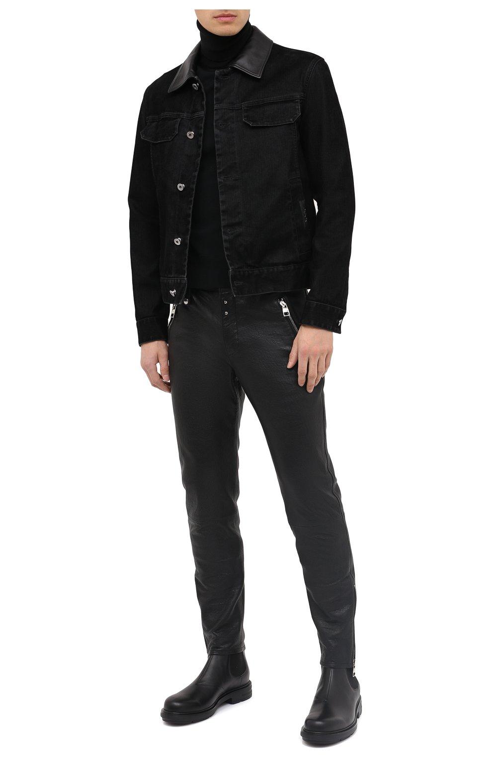 Мужская джинсовая куртка ZEGNA COUTURE черного цвета, арт. CVCD14/8VD60   Фото 2