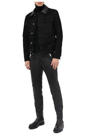 Мужская джинсовая куртка ZEGNA COUTURE черного цвета, арт. CVCD14/8VD60 | Фото 2