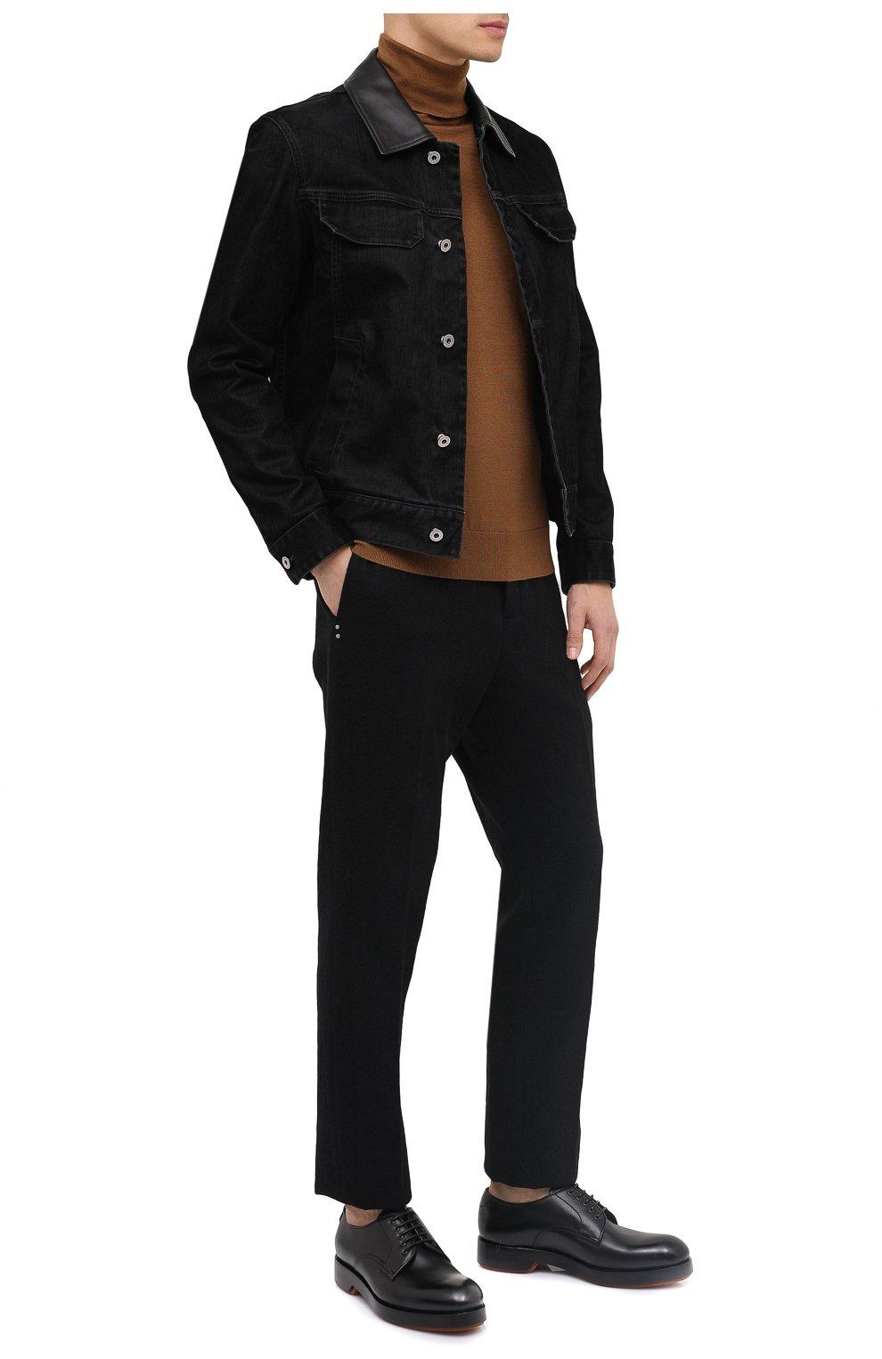 Мужская джинсовая куртка ZEGNA COUTURE черного цвета, арт. CVCD14/8VD60   Фото 3