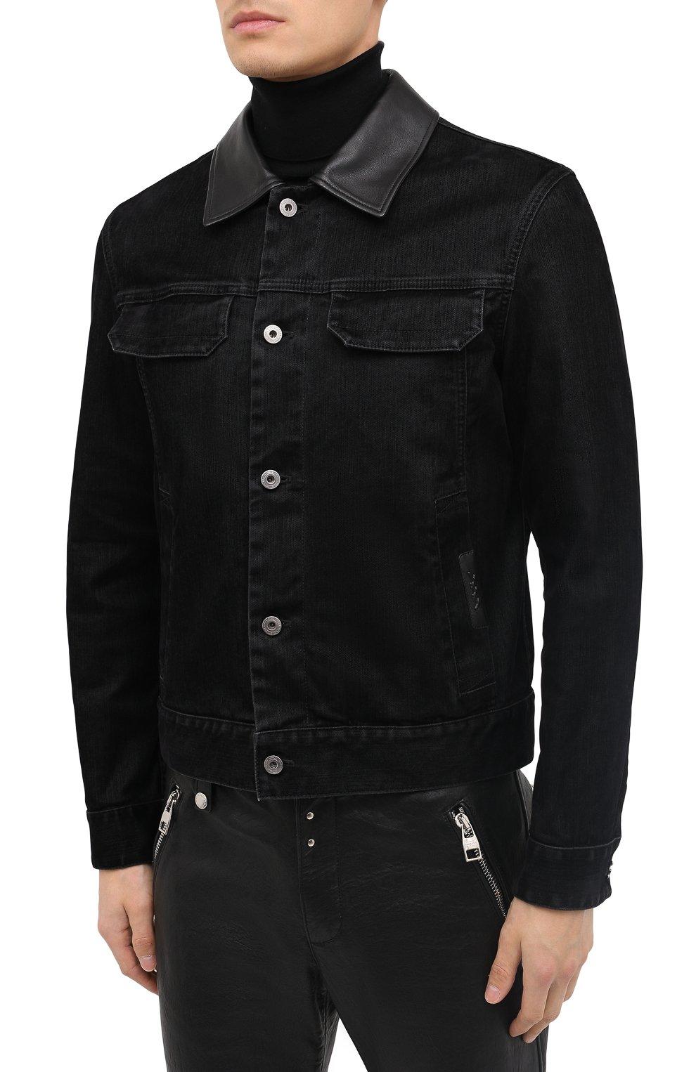 Мужская джинсовая куртка ZEGNA COUTURE черного цвета, арт. CVCD14/8VD60   Фото 4
