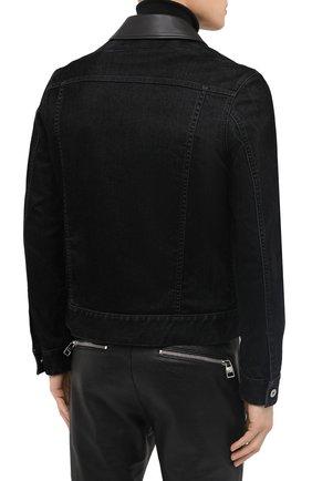 Мужская джинсовая куртка ZEGNA COUTURE черного цвета, арт. CVCD14/8VD60   Фото 5