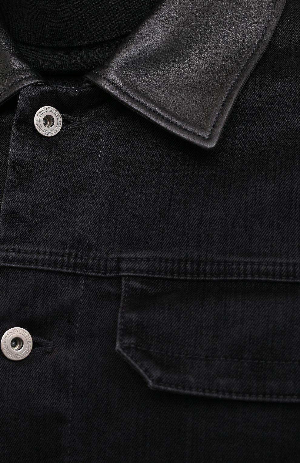 Мужская джинсовая куртка ZEGNA COUTURE черного цвета, арт. CVCD14/8VD60   Фото 6