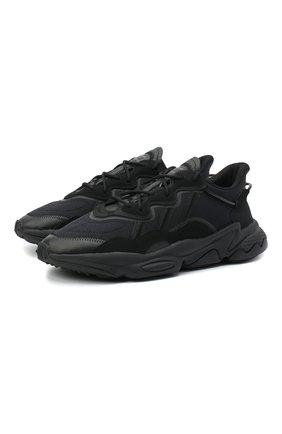 Мужские кроссовки ozweego ADIDAS ORIGINALS черного цвета, арт. FV9665 | Фото 1