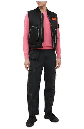 Мужские кроссовки ozweego ADIDAS ORIGINALS черного цвета, арт. FV9665 | Фото 2