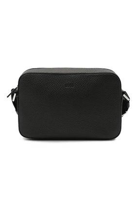 Мужская кожаная сумка BOSS черного цвета, арт. 50422964   Фото 1