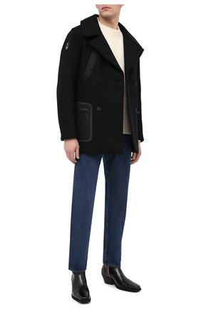 Мужские кожаные казаки OFF-WHITE черного цвета, арт. 0MIA197F20LEA0011000 | Фото 2