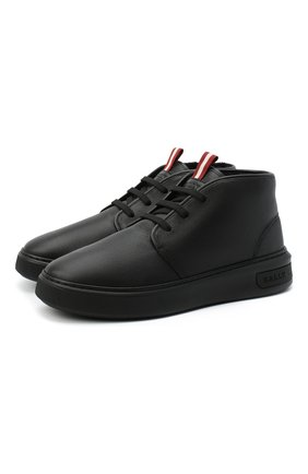 Мужские кожаные ботинки mattis BALLY черного цвета, арт. MATTIS-FUR/00   Фото 1