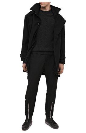 Мужские кожаные кеды RBRSL черного цвета, арт. 7Y2024U.T50C6NB001 | Фото 2