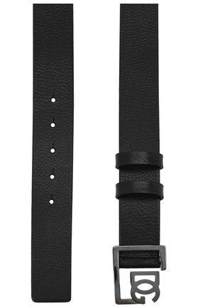 Мужской кожаный ремень DOLCE & GABBANA черного цвета, арт. BC4476/AV480 | Фото 2