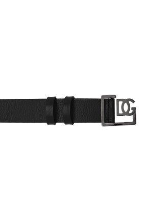 Мужской кожаный ремень DOLCE & GABBANA черного цвета, арт. BC4476/AV480 | Фото 3