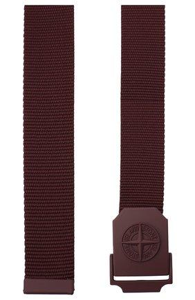 Мужской текстильный ремень STONE ISLAND бордового цвета, арт. 731594071 | Фото 2