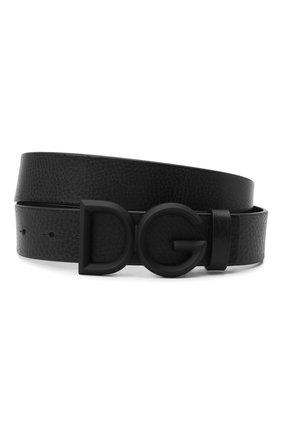 Мужской кожаный ремень DOLCE & GABBANA черного цвета, арт. BC4465/AV480 | Фото 1