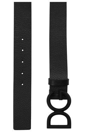 Мужской кожаный ремень DOLCE & GABBANA черного цвета, арт. BC4465/AV480 | Фото 2