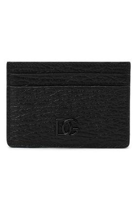 Мужской кожаный футляр для кредитных карт DOLCE & GABBANA черного цвета, арт. BP2459/AW335 | Фото 1