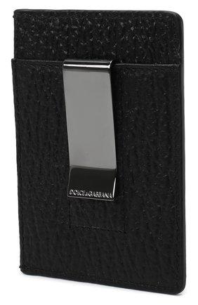 Мужской кожаный футляр для кредитных карт DOLCE & GABBANA черного цвета, арт. BP2459/AW335 | Фото 2