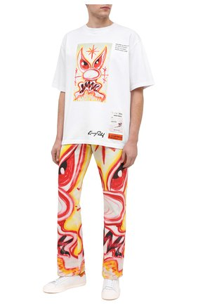 Мужская хлопковая футболка heron preston x kenny scharf HERON PRESTON белого цвета, арт. HMAA019F20JER0160130 | Фото 2