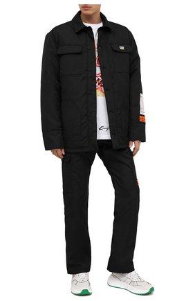 Мужская утепленная куртка heron preston x caterpillar HERON PRESTON черного цвета, арт. HMEM005F20FAB0021000 | Фото 2