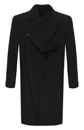 Мужской шерстяное пальто Y/PROJECT черного цвета, арт. C0AT33-S19 F01 | Фото 1