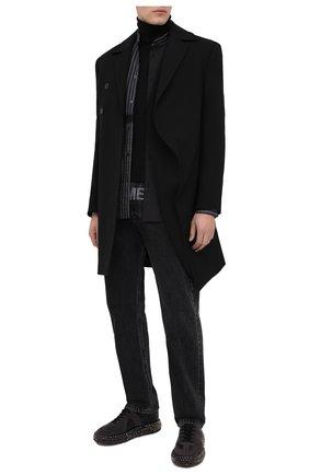 Мужской шерстяное пальто Y/PROJECT черного цвета, арт. C0AT33-S19 F01 | Фото 2