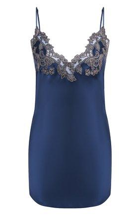 Женская шелковая сорочка LA PERLA темно-синего цвета, арт. 0019227/0261 | Фото 1