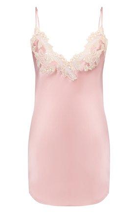 Женская шелковая сорочка LA PERLA розового цвета, арт. 0019227/W044 | Фото 1