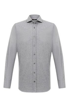 Мужская хлопковая рубашка WINDSOR серого цвета, арт. 13 LAN0-W 10001486   Фото 1
