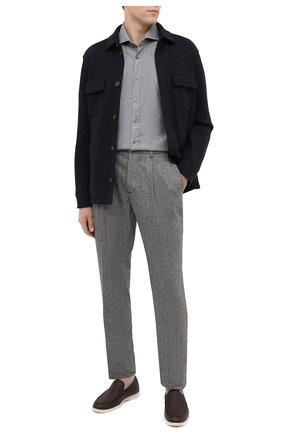 Мужская хлопковая рубашка WINDSOR серого цвета, арт. 13 LAN0-W 10001486   Фото 2